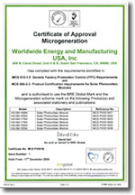 amerisolar certificate of approval