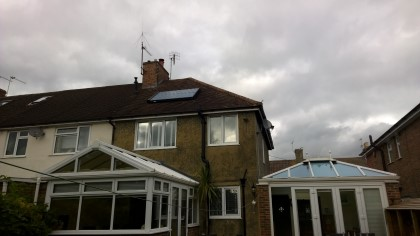 Typical Solar Hot Water System Roof Panels