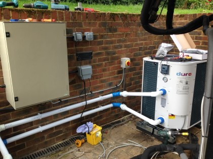 ASHP Air Sourced Heat Pump Pool Heating solution in East Sussex