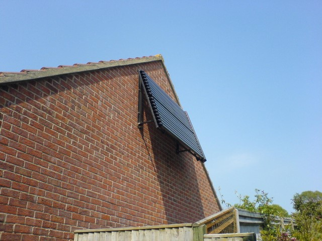 Wall mounted LaZer II Solar Panels near Brighton in East sussex