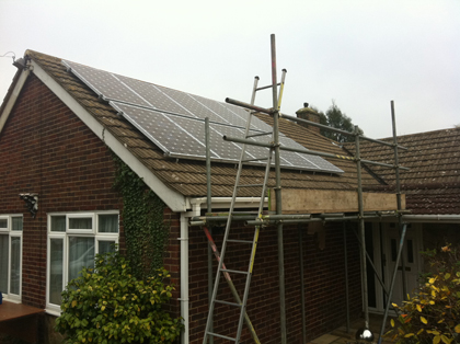 Solar Panels being installed - TN37 7BP