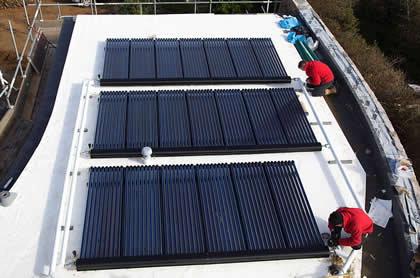 Solar Thermal on Flat Roof
