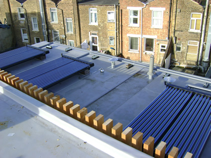 Large scale use of Solar Vacuum Tubes for Communal residential hot water
