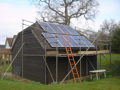 Solar PV on outbuilding