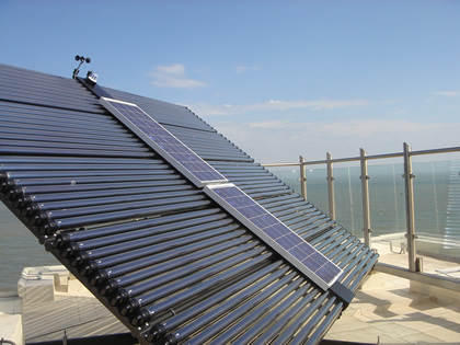 Solar Thermal with Solar Electric panel